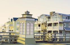 小游艇船坞在开普梅NJ美国 库存图片
