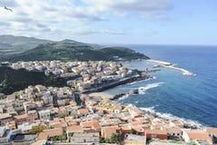 小游艇船坞在撒丁岛 库存图片