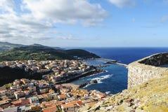 小游艇船坞在撒丁岛 免版税图库摄影