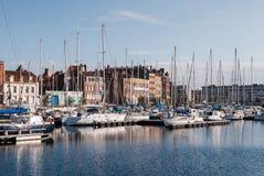 小游艇船坞在敦刻尔克,法国 免版税库存照片