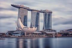 小游艇船坞在新加坡咆哮沙子 免版税库存图片