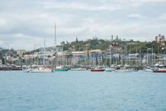 小游艇船坞在新喀里多尼亚 免版税图库摄影