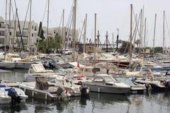小游艇船坞在突尼斯(苏斯) 免版税库存图片