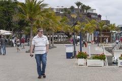 小游艇船坞在Puerto Calero 库存照片