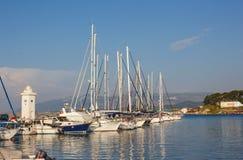 小游艇船坞在Urla 库存图片
