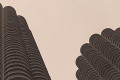 小游艇船坞城市大厦在芝加哥 免版税图库摄影