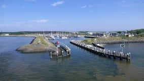 小游艇船坞弗利兰岛 免版税库存照片
