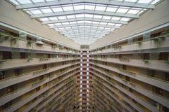 小游艇船坞文华酒店新加坡内部  库存照片