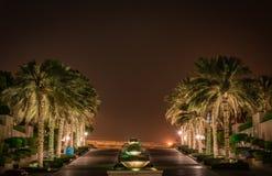 小游艇船坞步行,迪拜 库存图片