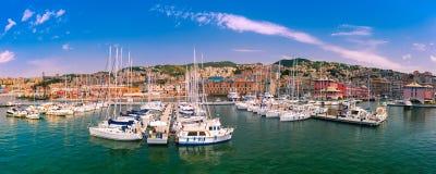 小游艇船坞波尔图Antico赫诺瓦,热那亚,意大利 图库摄影