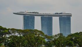 小游艇船坞海湾在新加坡铺沙大厦 免版税库存照片