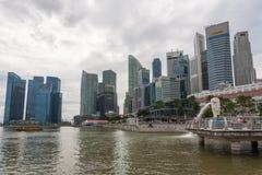 小游艇船坞海湾散步在新加坡 免版税图库摄影