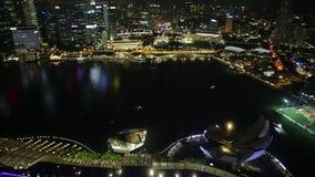 小游艇船坞海湾新加坡全景 影视素材