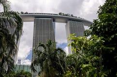 小游艇船坞海湾沙子在从庭院的新加坡 库存图片