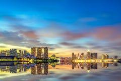 小游艇船坞海湾沙子新加坡视图  库存照片