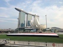 小游艇船坞海湾沙子新加坡 免版税库存图片