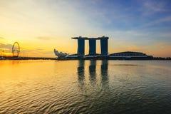 小游艇船坞海湾沙子,世界的最昂贵的独立赌博娱乐场物产在S$8的十亿新加坡201 5月15日, 免版税库存照片