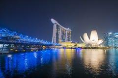 小游艇船坞海湾沙子,新加坡2015年10月12日:小游艇船坞海湾圣 库存图片