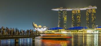 小游艇船坞海湾沙子,新加坡2015年11月05日:小游艇船坞海湾waterf 免版税库存照片