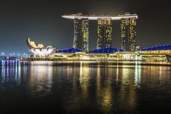 小游艇船坞海湾沙子,新加坡2015年11月05日:小游艇船坞海湾waterf 图库摄影