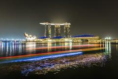 小游艇船坞海湾沙子,新加坡2015年11月05日:小游艇船坞海湾waterf 免版税图库摄影