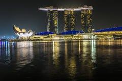 小游艇船坞海湾沙子,新加坡2015年11月05日:小游艇船坞海湾waterf 库存照片