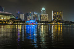 小游艇船坞海湾沙子,新加坡2015年11月05日:小游艇船坞海湾waterf 免版税库存图片