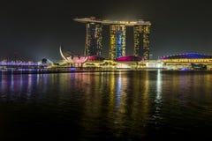 小游艇船坞海湾沙子,新加坡2015年11月05日:美丽的激光s 免版税图库摄影