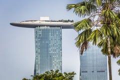 小游艇船坞海湾沙子,新加坡2015年11月05日:美好的天在 免版税库存照片
