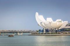 小游艇船坞海湾沙子,新加坡2015年11月05日:美好的天在 免版税图库摄影