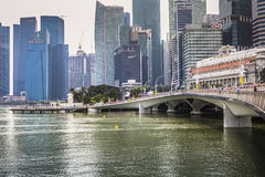 小游艇船坞海湾沙子,新加坡2015年11月05日:Singap地平线  图库摄影