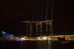 小游艇船坞海湾沙子, SINGAPORE-JUN 14日2015年:小游艇船坞sa海湾看法  库存图片