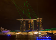 小游艇船坞海湾沙子, SINGAPORE-JUN 14日2015年:小游艇船坞sa海湾看法  图库摄影