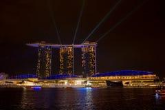 小游艇船坞海湾沙子, SINGAPORE-JUN 14日2015年:小游艇船坞sa海湾看法  库存照片