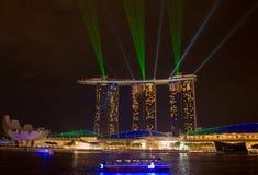 小游艇船坞海湾沙子, SINGAPORE-JUN 14日2015年:小游艇船坞sa海湾看法  免版税库存照片