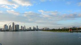 小游艇船坞海湾看法在新加坡 股票视频