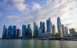 小游艇船坞海湾都市风景在新加坡 免版税图库摄影