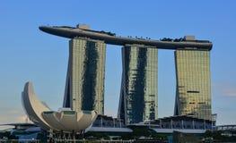 小游艇船坞海湾都市风景在新加坡 库存图片