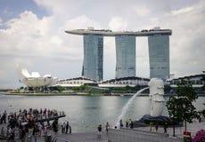 小游艇船坞海湾都市风景在新加坡 库存照片