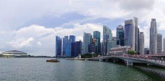 小游艇船坞海湾都市风景在新加坡 免版税库存图片
