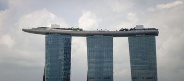 小游艇船坞海湾都市风景在新加坡 图库摄影