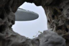 小游艇船坞海湾铺沙度假旅馆-天空公园 库存照片