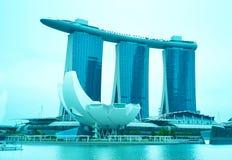 小游艇船坞海湾铺沙手段,新加坡 免版税库存照片