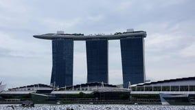 小游艇船坞海湾铺沙旅馆5*新加坡 免版税库存照片