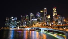 小游艇船坞海湾风景在新加坡 免版税库存照片
