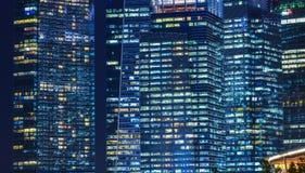 小游艇船坞海湾,新加坡夜视图  免版税库存照片