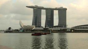 小游艇船坞海湾,新加坡- timelapse 股票视频