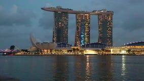 小游艇船坞海湾,新加坡- timelapse 股票录像