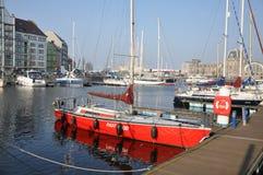 小游艇船坞海湾, Oostende 免版税库存图片