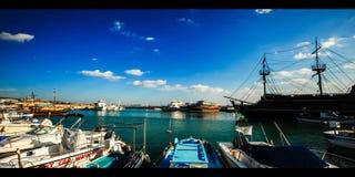小游艇船坞港口塞浦路斯(4k) 股票录像